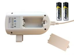 Doppler werkt op 2 meegeleverde AA batterijen