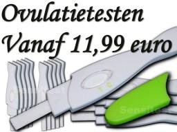 Je hebt al een pakket ovulatietesten midstream vanaf 11,99 euro.
